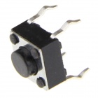 6 x 6 x 4.3mm Slightly Touch Button Tact Switches - Black (20 PCS)