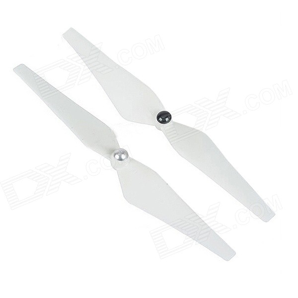 12 x 4.5 1245 CW / CCW Self-locking Propeller Set for R/C Multicopters - White (Pair) 4 pair 12x4 5 1245 l r cw ccw left right propeller nylon multi copter new high quality free shipping