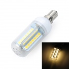 Marsing E14 10W 900LM 3500K 56 x 5050 SMD LED Warm White Light Corn Lamp (AC 220~240V)