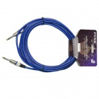 DEDO MA-49 High Quality Copper Electric Guitar Connection Cable - Blue + Black + Silver (600cm)