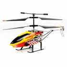 Kinrener Mini 2-Channel 2.4GHz IR Remote Control Helicopter - Black + Yellow + Multi-Color