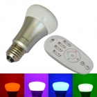 JIAWEN 8W 10x3535 SMD LED Dimmable RGB Smart Bulb Light w/ Remote Controller (AC 85-265V)