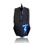 Ajazz Q7 USB Wired 800 / 1200 / 1800 / 2400DPI 8-Button Gaming Mouse - Black (180cm)