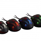 Ajazz First Blood AJ100 USB Wired 8200DPI Laser Gaming Mouse - Black (180cm)