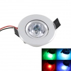 KINFIRE 3W 160lm Dimmable RGB Ceiling Lamp w/ 24-key Remote Controller