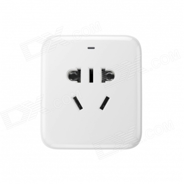 Wi-Fi 2200W Wireless Remote Control Smart Plug Socket w/ USB - White