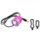 KINFIRE U2 7.2~8.4V DIY 600lm 3-Mode Cool White Bicycle Car Lamp Headlamp Headlight - Pink