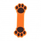 Paw Pattern Plastic Sunction Cup Cable Organizing Holder / Stand - Orange + Black