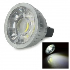 MR16 5W 480lm COB LED bluish luz branca mini spotlight - chumbo + preto