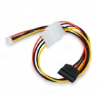 4-Pin X300 / X505 SATA Power Cable for Raspberry Pi Expansion Board - Black + Red