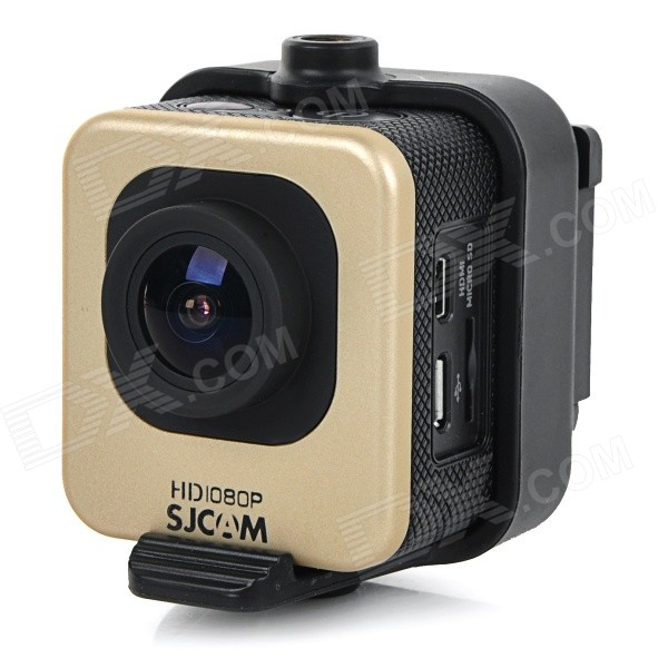 SJCAM M10 1.5 LCD 2/3 CMOS 12MP 1080P Wide Angle Sports Camera w/ TF, Mini HDMI - Golden + Black evoplus mirage waterproof 1080p 1 5 lcd 2 3 cmos 12mp wide angle anti shake sports camera black