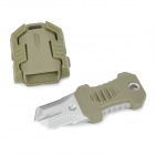 EDCGEAR Beetle Style Outdoor Portable Survival Knife w/ Strap - Green