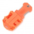 EDCGEAR Beetle Style Outdoor Portable Survival Knife w/ Strap - Orange