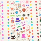 HOT-088-090 DIY Cartoon Style Nail Art Stickers - Multi-Color