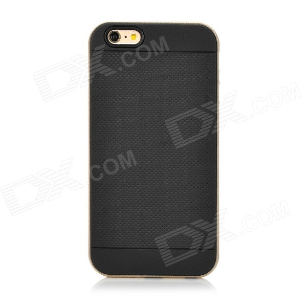 EZO Detachable Silicone + Aluminum Alloy Back Case for IPHONE 6 PLUS - Black + Champagne