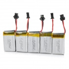 JJRC KH8C-002 Replacement 500mAh Li-polymer Batteries w/ Charging Cable for JJRC / DFD R/C Aircraft