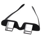 Plastic Lazy's Lying Horizontal Glasses - Black