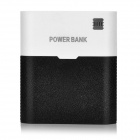 Universal Dual-USB Mobile 10400mAh Power Bank + USB Lamp for Cell Phone / Tablet - White + Black