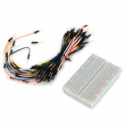 400-Hole Mini Breadboard + 65 x Jump Wires Set - White