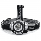110lm 3-Mode White Light Headlamp Headlight - Black + Silver (3*AAA)