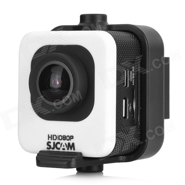 SJCAM M10 1.5 LCD 2/3 CMOS 12MP 1080P Wide Angle Sports Camera w/ TF, Mini HDMI - White + Black evoplus mirage waterproof 1080p 1 5 lcd 2 3 cmos 12mp wide angle anti shake sports camera black