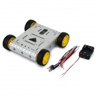 CR0026 4WD Lightweight Aluminum Alloy Mobile Robot Kit - Silver
