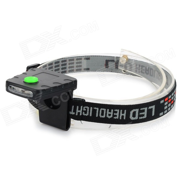 3-LED White Light Sensing Cap Light Headlamp for Hunting / Fishing / Camping - Black + Jade Green