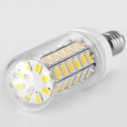 E14 6W 800LM 3000K 56x5730 SMD Warm White LED Corn Bulb (AC 220-240V)