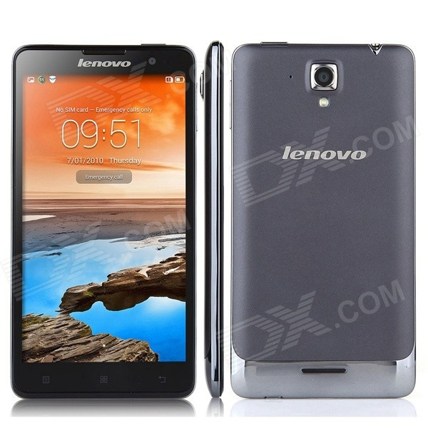 Lenovo S898t+ Android 4.2 Octa-core 3G Smartphone w/ 2GB RAM, 16GB ROM, 5.3, WiFi, BT - Gray inew v3plus 5 android 4 4 octa core 3g phone w 5 0 2gb ram 16gb rom gps bt wifi black