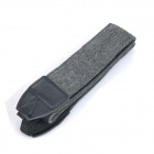 LYNCA LYN-242H Nylon Canvas Shoulder Strap - Grey + Black (138cm)