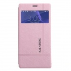 KALAIDENG Protective PU Leather Case Cover w/ Window + Stand for SONY XPERIA Z3 - Pink