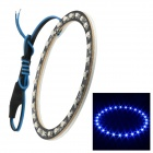 Merdia 1W 100lm 27-SMD 3528 LED Blue Light Angel Eye Car Decoration Light (100mm Diameter)