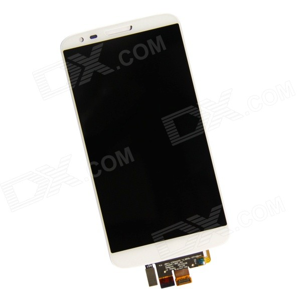 Replacement LCD Display + Capacitive Touch Screen Digitizer Assembly for LG D802, D805, G2 - White original lcd for lg optimus g2 d802 lcd touch screen with frame black and white color dhl free shipping