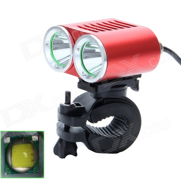 ZHISHUNJIA ZSJ-360K2E 1600lm 4-Mode White 2-LED Bicycle Lamp