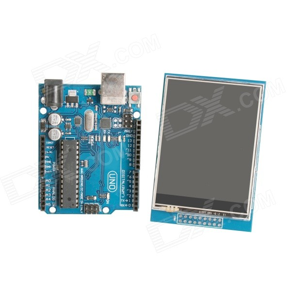 "UNO R3 Board + 2.8"" TFT LCD Touch Shield Display Module"