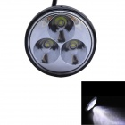 GULEEK 9W 600lm 6000K 3-LED White Flood Beam Round Working Light for Car / Boat