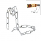 Cool Chain Design Wine Bottle Holder Stand - Silver