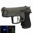 AM128 Creative Gun Style Windproof Metal Butane Jet Gas Lighter - Black