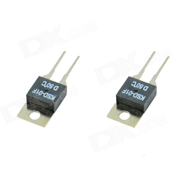 HF-KSD0-1F Normally Closed 50-Celsius Thermostat Switches - Black