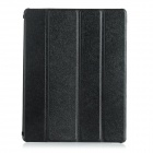 IP10 Protective 4-Folds Flip-Open PU + TPU Smart Case w/ Stand for IPAD 2 / 3 / 4 - Black