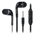 SZWLX c200 Universal 3.5mm Wired In-Ear Earphone w/ Microphone / Remote - Black