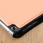PB04 Smart Case de protection en cuir flip-ouvert PU ultra-mince w / stand pour l'IPAD AIR - rosé d'Orange