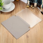 Protective PU + TPU Case w/ Stand for IPAD MINI 1 / 2 / 3 - White + Translucent White