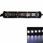 GULEEK 18W 1260lm 6000K 6-LED Ultrathin White Flood Work Light Bar for Car / Boat