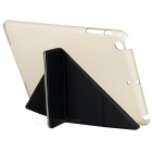 Protective PU + TPU Case w/ Stand for IPAD MINI 1 / 2 / 3 - Black + Translucent White