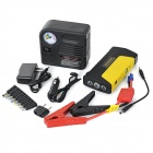 13800mAh Car Emergency Jump Starter w/ 12V Air Pump- Black + Yellow