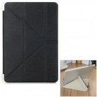 Diamond Pattern Protective PU Case w/ Stand for IPAD MINI 1 / 2 / 3 - Black + Translucent White
