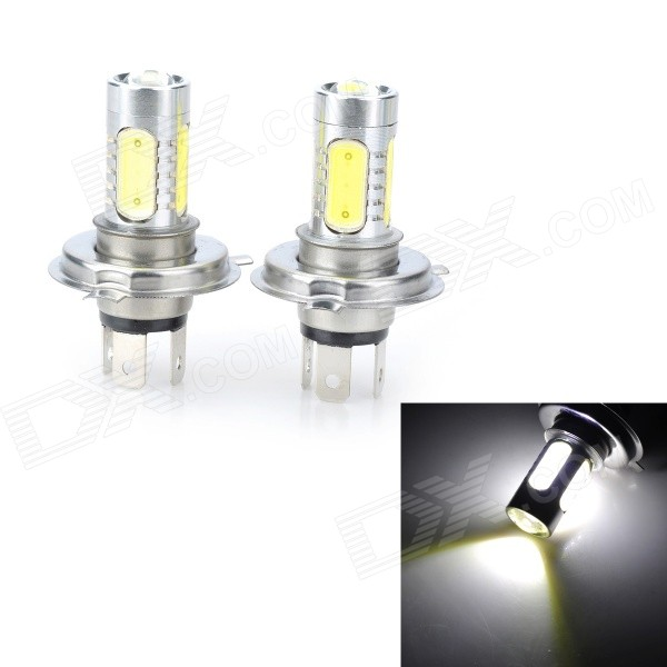 Marsing H4 7.5W 700lm 4-COB Cold White Light Car Headlamps (2PCS)