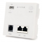AP919 de pared router inalámbrico w / Switch + 2 x LAN + USB + TELÉFONO - Blanco