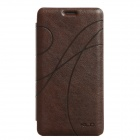 KALAIDENG Protective PU Leather Flip Open Case w/ Stand for Samsung Galaxy Note 4 (N9100) - Brown